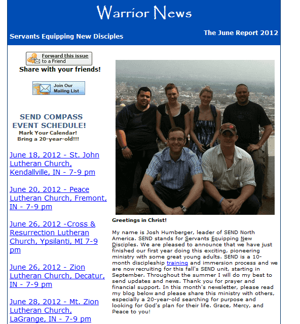 June 2012 SEND Newsletter